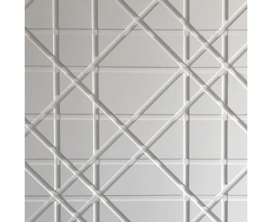 Гипсовая 3Д панель Led line, фото 1