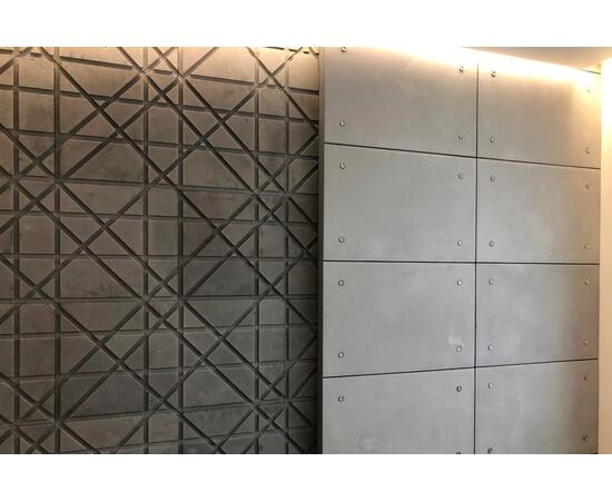 Бетонная 3Д панель Led line, фото 9