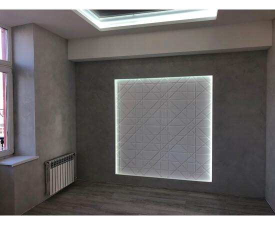 Гипсовая 3Д панель Led line, фото 6