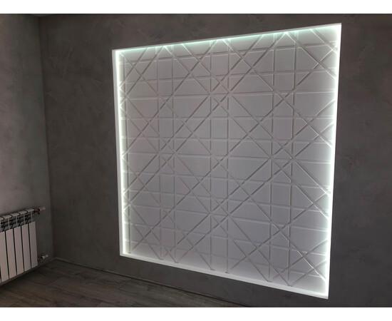 Гипсовая 3Д панель Led line, фото 5