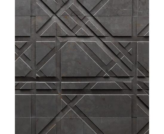 Бетонная 3Д панель Led line, фото 12
