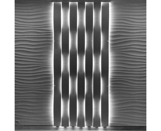 Гипсовая 3д панель NIAGARA водопад LED светильник [890х150х100]